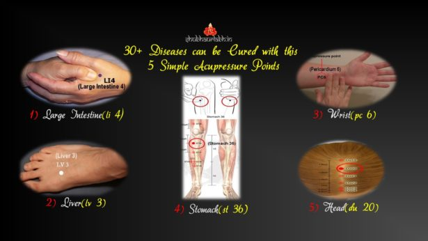 5 Simple Acupressure Points