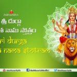 Durga Dwadasa Nama Stotram